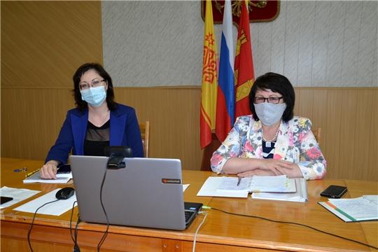 Совместное заседание глав муниципальных образований и председателей избирательных комиссий Алатырского района в формате ВКС