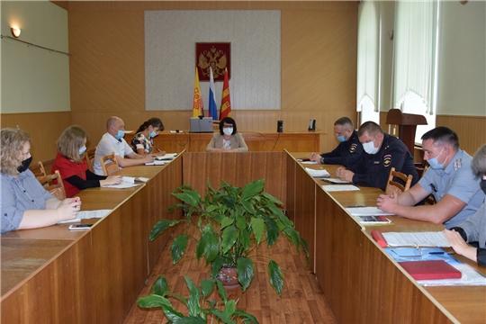 В администрации Алатырского района состоялось заседание Комиссии по профилактике правонарушений