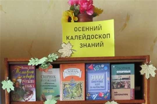 Книжная выставка «Осенний калейдоскоп знаний»