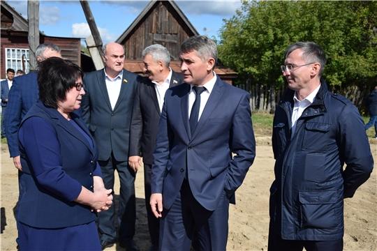 С рабочей поездкой Алатырский район посетил врио Главы Чувашской Республики Олег Николаев