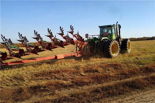 На полях района продолжается работа по поднятию зяби