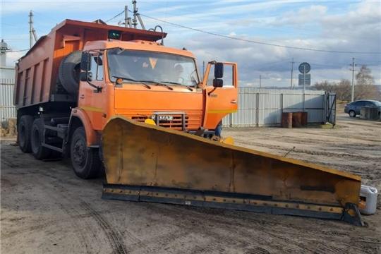 В Алатырском районе проведен осмотр готовности дорожной техники к зимнему периоду