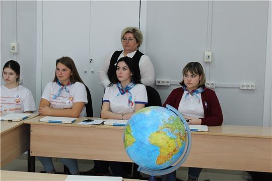 Члены Российского движения школьников Алатырского района на «Свидании с Россией 2020»
