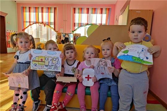Благодарность врачам – в рисунках детей Чуварлейского детского сада «Колокольчик»