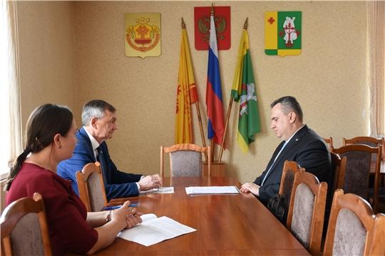 Руководитель Госслужбы Чувашии по делам юстиции Д. М. Сержантов посетил с рабочим визитом Аликовский район