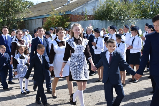 В Чувашско-Сорминской школе состоялась торжественная линейка