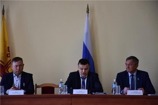 Вячеслав Борисов в рамках рабочего визита посетил Аликовский район