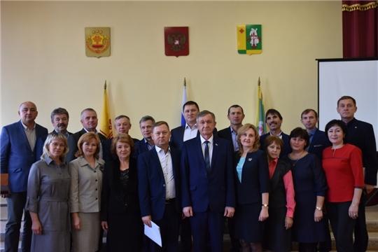 Состоялось первое заседание Собрания депутатов Аликовского  района VII созыва