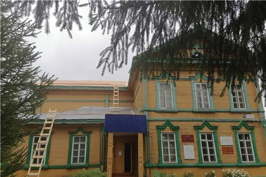 В Аликовском музее продолжаются ремонтные работы