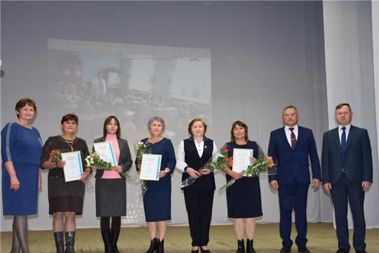 В Аликовском районе состоялось торжественное мероприятие, посвященное Дню учителя