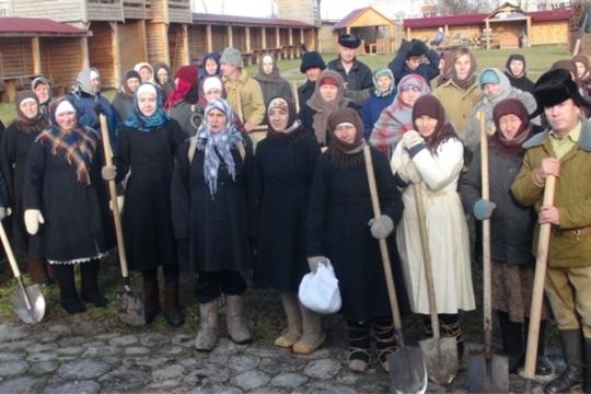 Работники культуры присоединились к акции «Реконструкция событий строительства Сурского и Казанского оборонительных рубежей»