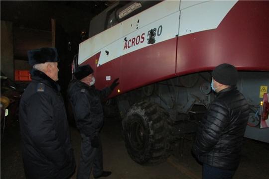 Рабочий визит заместителя начальника Гостехнадзора Чувашии Е.В. Еландаева в Аликовский район