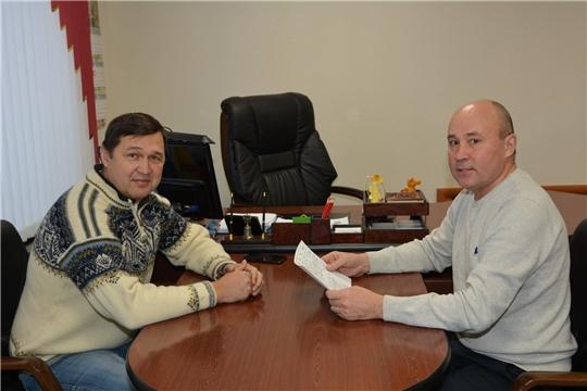 Региональный представитель фонда «Добрый лед» по Поволжью Олег Салтыков посетил Батыревский район