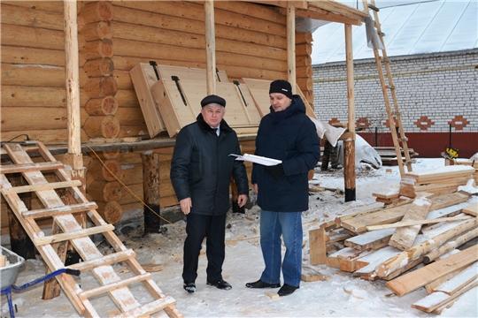 Заместитель главы администрации района проинспектировал ход реставрации Дома- музея А.Кокеля