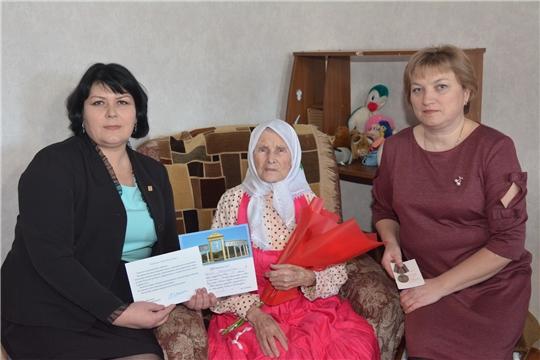 90-летие отмечает труженица тыла, ветеран труда Мария Васильевна Веревкина