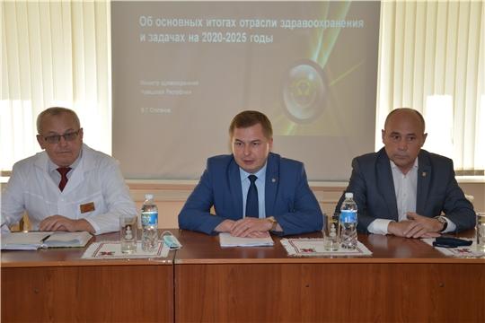 Рабочая встреча главы администрации Батыревского района с министром здравоохранения Чувашии
