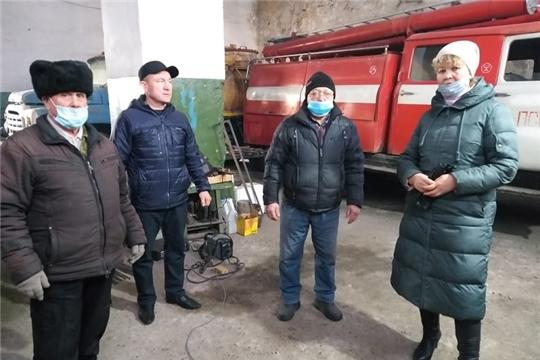 Проверена готовность подразделения пожарной охраны в с.Алманчиково