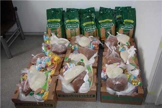 Председатель Государственного Совета Чувашской Республики приняла решение обеспечить продуктами питания 10 многодетных семей  Чебоксарского района