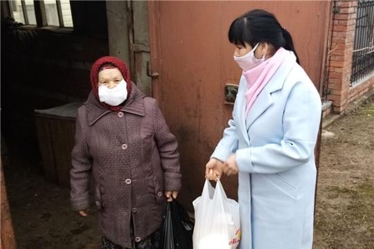 Доставка продуктов питания, лекарственных препаратов и товаров первой необходимости работниками Центра социального обслуживания