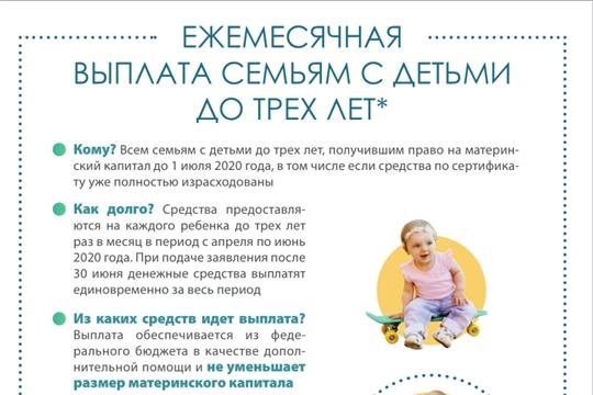 Ежемесячная выплата семьям с детьми до трех лет (памятка)