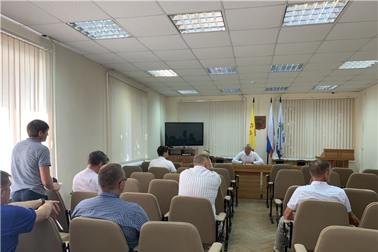 Рабочее совещание с руководителями МУП ЖКХ, куда также были приглашены главы Атлашевского, Вурман-Сюктерского и Ишлейского сельских поселений Чебоксарского района