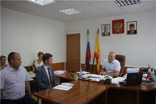 Рабочая встреча главы администрации Чебоксарского района.