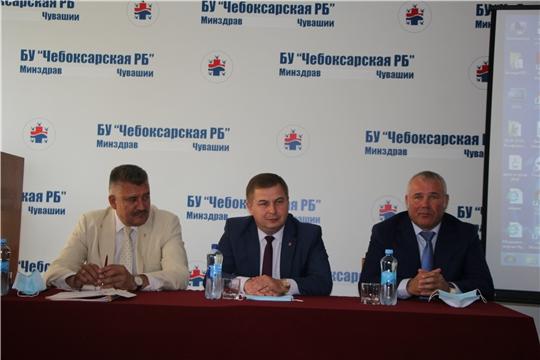 Министр здравоохранения Чувашии Владимир Степанов с рабочим визитом посетил Чебоксарский район