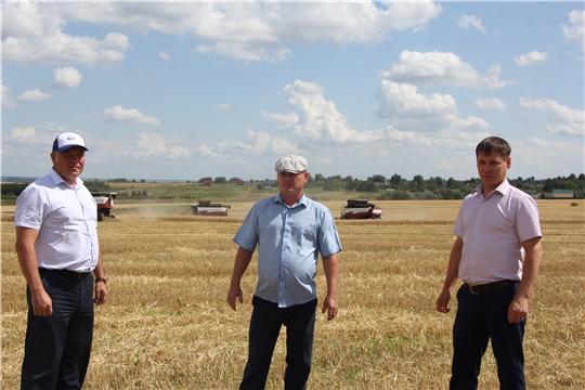 Чебоксарский район приступил к уборке зерновых культур