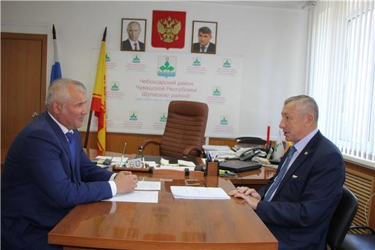 Председатель ГКЧС Чувашии Вениамин Петров с рабочим визитом посетил Чебоксарский район
