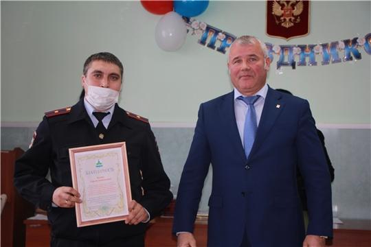Глава администрации Чебоксарского района Николай Хорасёв поздравил сотрудников органов внутренних дел  с профессиональным праздником