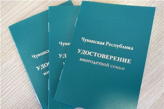 Продолжается прием заявлений о выдаче удостоверений для многодетных семей