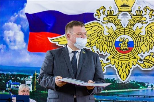 Олег Кортунов поздравил с профессиональным праздником сотрудников внутренних дел города Чебоксары