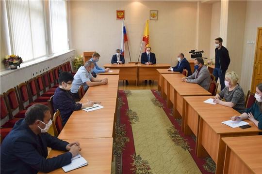 Министр Александр Героев в составе рабочей группы по борьбе с коронавирусом проинспектировал город Шумерля