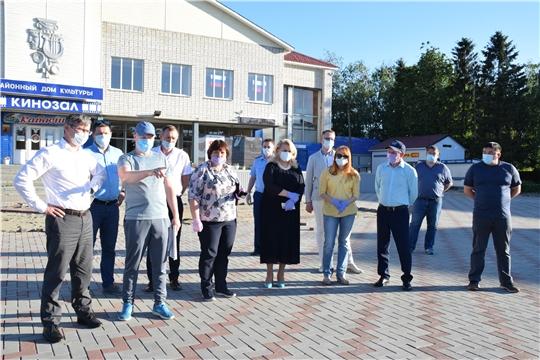 Благоустройство общественных пространств в Красночетайском районе - на контроле властей