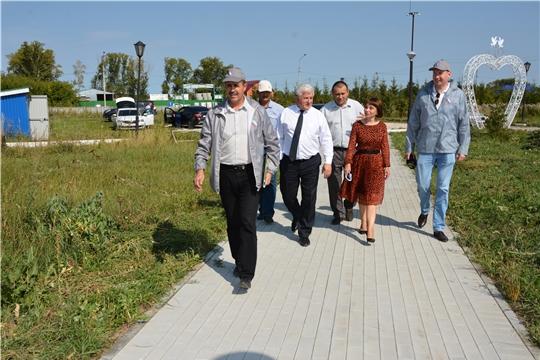 Представители Минстроя Чувашии и Общероссийского народного фронта оценили благоустройство в Яльчикском и Батыревском районах