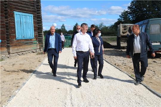 Министр Александр Героев посетил город Алатырь и Алатырский район