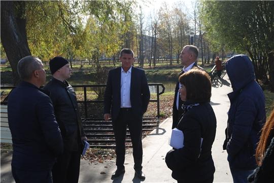 Минстрой Чувашии совместно с общественниками оценил ход работ по благоустройству с Цивильском и Шемуршинском районах