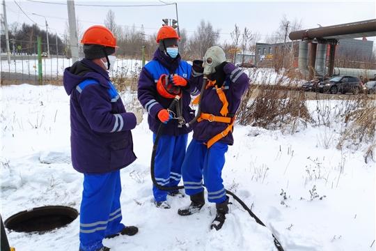 В Чебоксарах прошли учения по ликвидации аварийной ситуации
