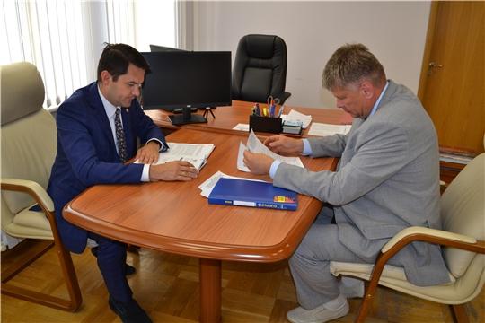 Дмитрий Краснов встретился с вице-премьером Пензенской области Дмитрием Семеновым