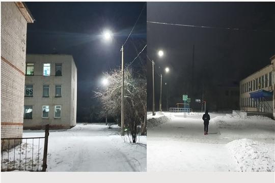 г. Алатырь: на территории школы №3 стало намного светлее
