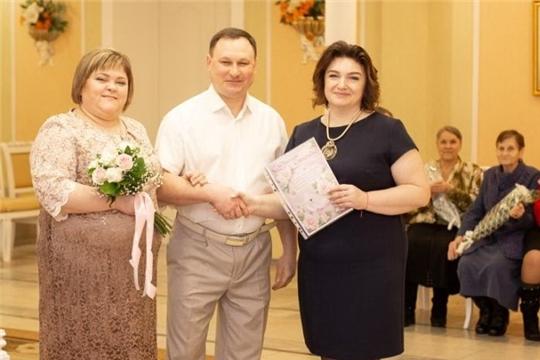 «Серебряную» годовщину брака отметили супруги Киселевы из Алатыря