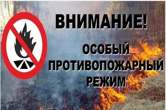 В Алатыре установлен особый противопожарный режим