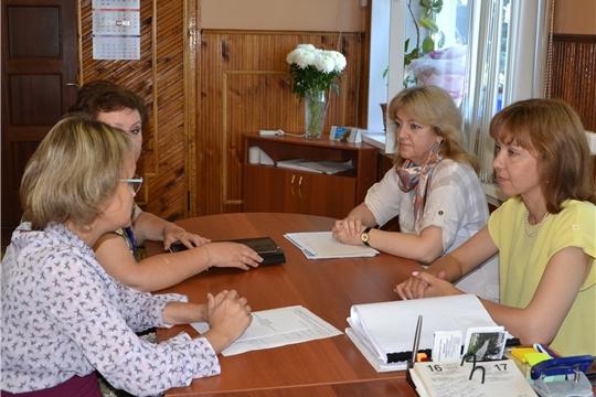 Рабочий визит в Алатырь министра труда и социальной защиты Чувашской Республики А.Г. Елизаровой