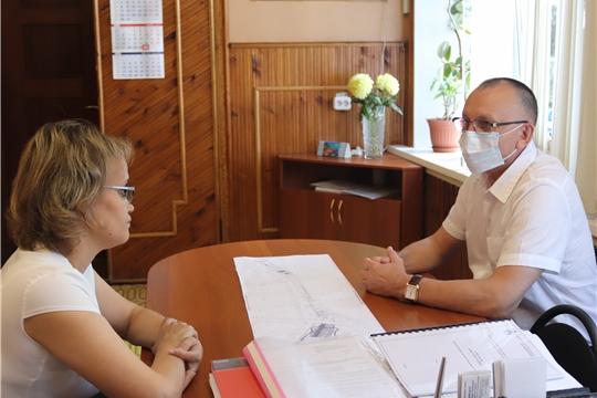 Рабочий визит министра физической культуры и спорта Чувашии В.В. Петрова в Алатырь