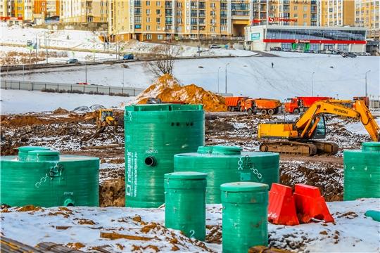 Современные очистные сооружения возводятся на Чебоксарском заливе по нацпроекту Экология» «Оздоровление Волги»
