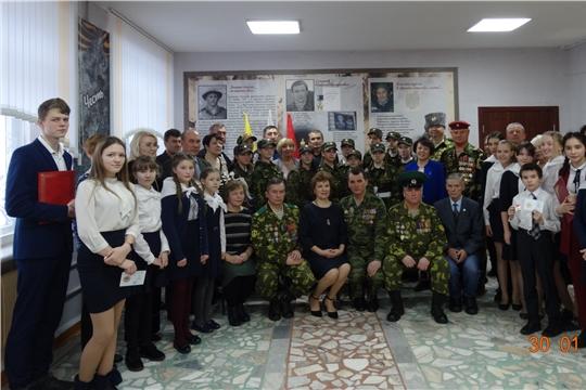 В чебоксарской школе № 33 открыли зал трудовой и боевой Славы