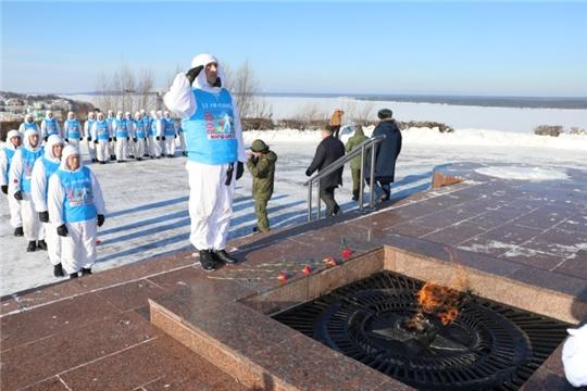 Десантники Ульяновского десантно-штурмового соединения ВДВ совершили марш-бросок в Чебоксары