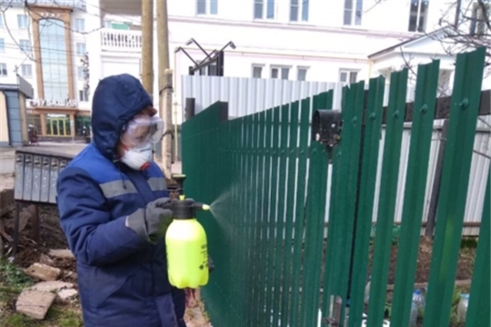О результатах проверки дезинфекции мест общего пользования в многоквартирных домах г.Чебоксары 14 апреля