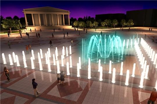 Чебоксарцам предлагают выбрать мелодии для музыкального фонтана на Красной площади