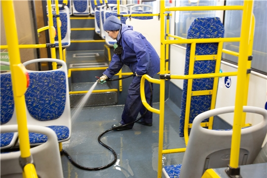 Дезинфекция автобусов и троллейбусов в Чебоксарах проводится 2 раза в день